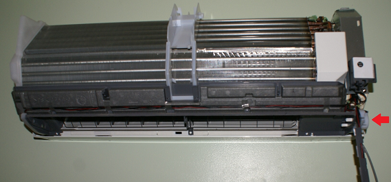 Photo of exposed split system air-conditioner