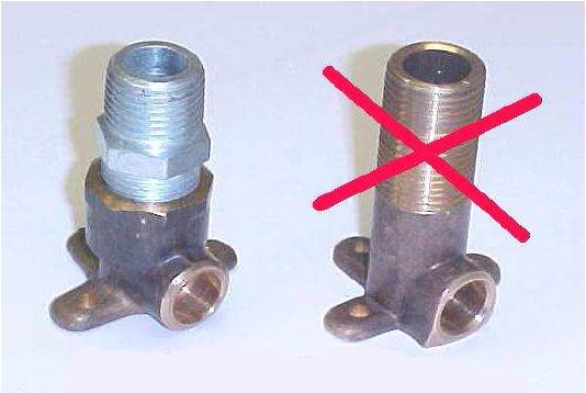 Image of galvanised or brass tapered hex nipple