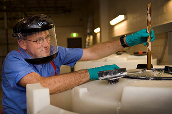 Image of a worker wearing PPE