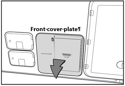 Remove the hot water heater cover plate. Make sure to let it cool first if the appliance has recently been used.