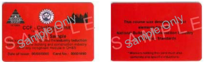 Image shows the red induction card issued by Victoria prior to 1 July 2008.